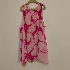 Vince Camuto Pink Sleeveless Blouse